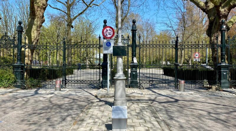 Gedenkteken bij Vondelpark: spiegel ter reflectie